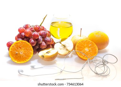 Fruit Juice on white background.