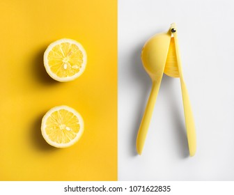 Fruit Lemon Lime Orange Squeezer Manual Hand Press Citrus  fruit Juicer Tool.