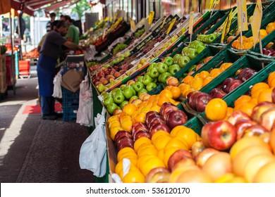 Fruit market in Berlin