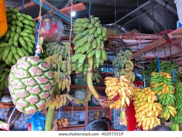 fruit market in Male, Maldives
