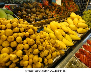 Fruit market. Thailand traditional street food