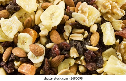 Fruit and Nut medley texture