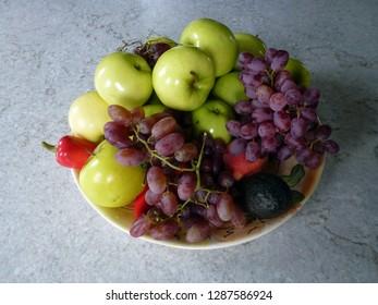 Fruit on dish