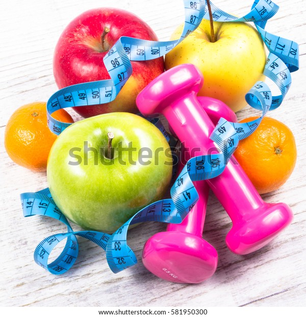 Fruit as part of a healthy diet - concept of healthy eating.