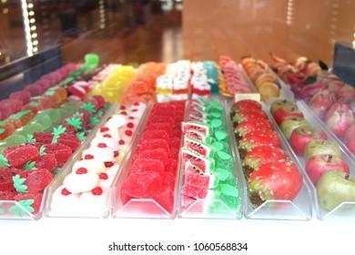 Fruit paste on display