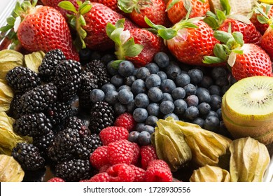 Fruit platter with various fresh fruits