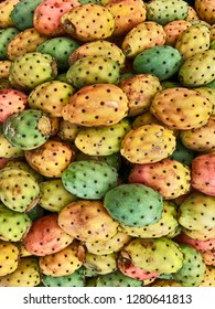 The fruit of the prickly pear cactus, as seen in a market stall in Casablanca, is considered a delicacy in Morocco.