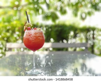 Fruit Punch a really wonderful refreshment for the summer seaso. Lots of fruits were included in there such as cherry,pineapple,limes and others. One of the beverage you must try once in your life.