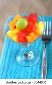 Fruit Salad with fork