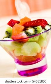 Fruit Salad with kiwi,strawberry,papaya
