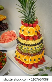 Fruit salad in shape of pineapple