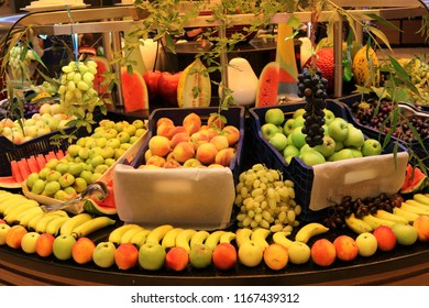Fruit shop. Fruit market. Fruit stall.