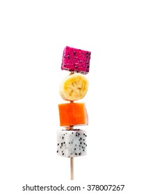 Fruit skewer isolated