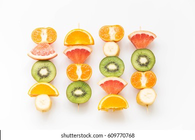 fruit skewers  / the concept of healthy lifestyle