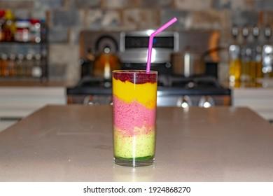 Fruit Smoothie With Greek Yogurt.