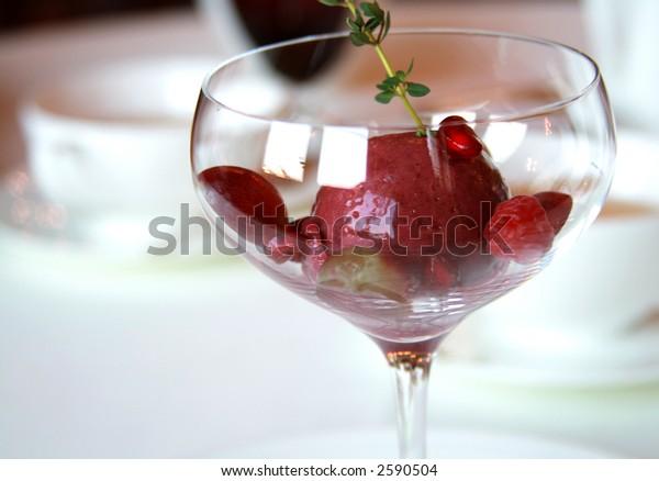 Fruit Sorbet with Berries