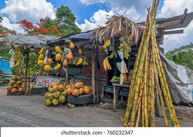 Fruit stand in Bog Walk, St Catherine, Jamaica