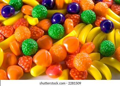 fruit sweets of candy used