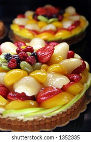 Fruit tarts are delicious and pretty.