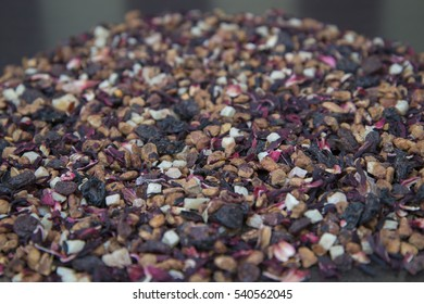Fruit tea blend with a delicious fresh berry jam. Jam made from wild berries with pine nuts.