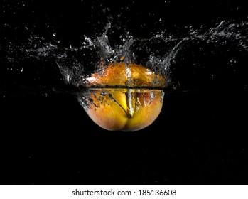 Fruit thrown in water