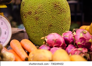 fruit traditional counter market in Thailand,the concept of exotic fruits