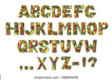 Alphabet-Kollektion für Obst und Gemüse