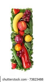 Fruit and vegetable alphabet - letter I