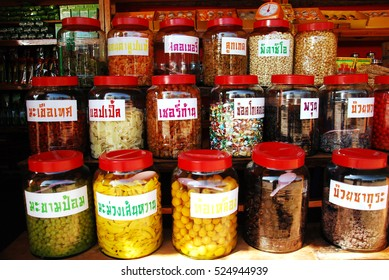Fruit and vegetable Conserve in Souvenir Store Thailand