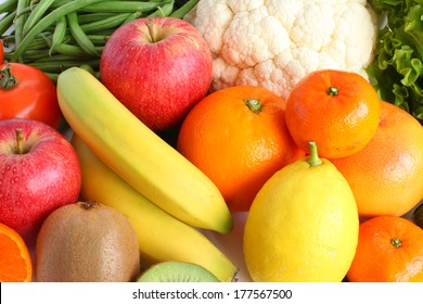 Fruit and vegetables - healthy food