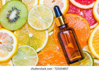 Fruit vitamin c oil, serum  aromatherapy anti aging natural cosmetic.