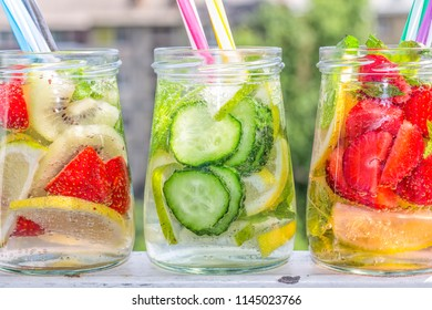 Fruit water, detox drinks