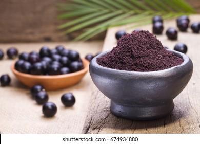 Acai Berry Powder Images Stock Photos Vectors Shutterstock