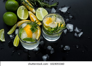 Fruits coctail and summer drink