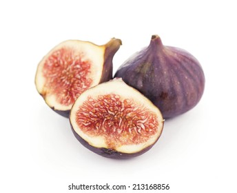 Fruits figs on white background