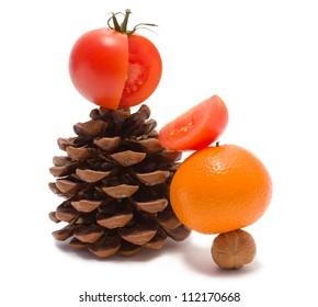 Fruits funny photo