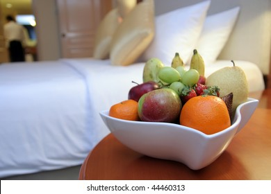 fruits in hotel room