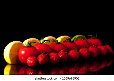 Fruits in the line