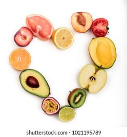 fruits love apple kiwi orange avocado grapefruit