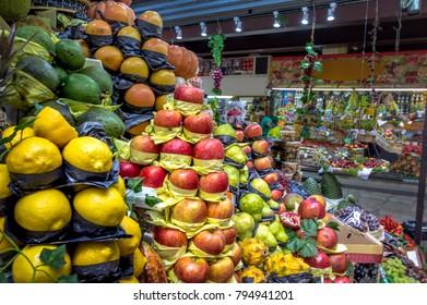 Fruits in Municipal Market (Mercado Municipal) in Downtown Sao Paulo - Sao Paulo, Brazil