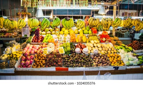 Fruits on  local market in Phuket, Thailand.