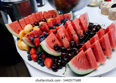 Fruits on a plate at the wedding