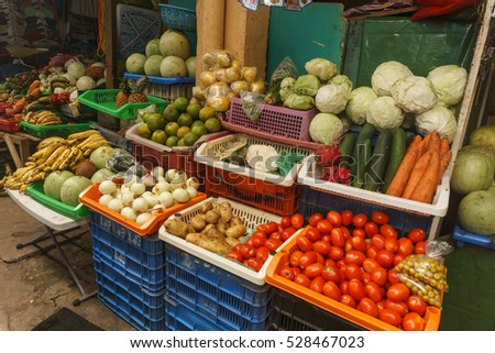 fruits on sell on market from Nicaragua