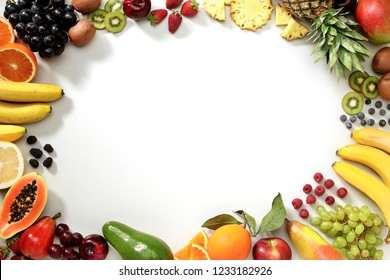 Fruits on The White Background