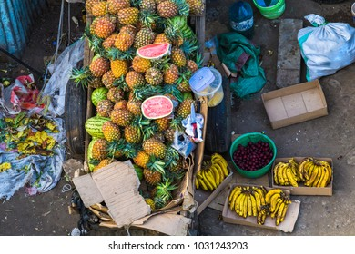 Fruits for sale on Arusha street. Tanzania.