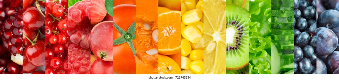 Fruits and vegetables. Background of fresh ripe food