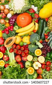 Fruits and vegetables collection food background portrait format apples oranges tomatoes fresh fruit vegetable backgrounds