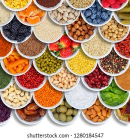 Fruits and vegetables food background spices ingredients berries square copyspace copy space from above fruit