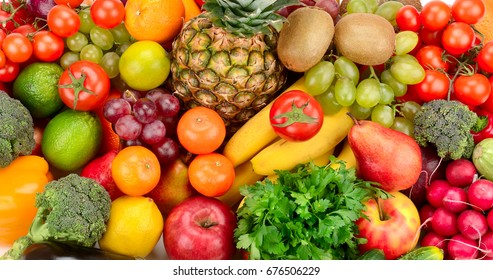 Fruits and vegetables. Healthy food.