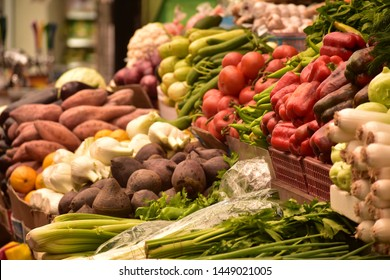 Fruits and Vegetables in Machane Yehuda Market in Jersualem